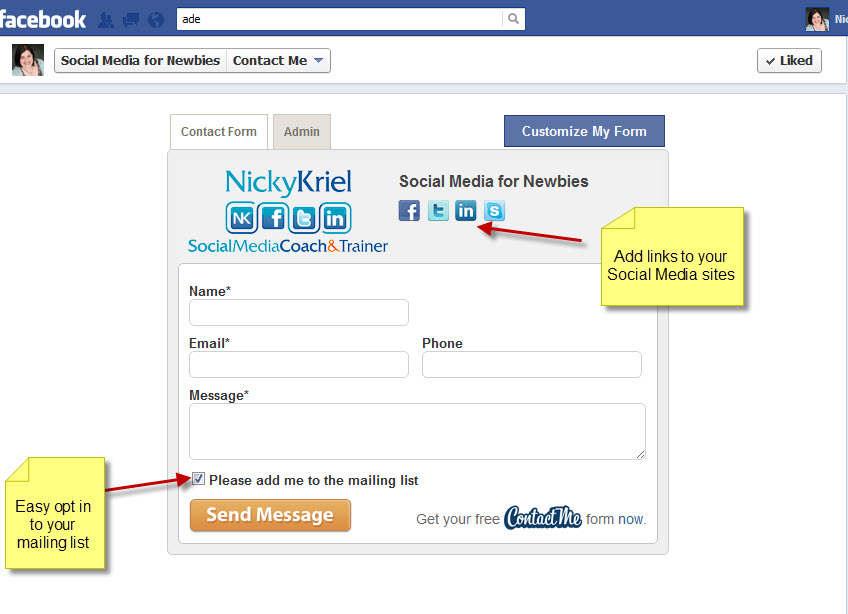 4 Great Facebook Apps to add to your Page for FREE - Nicky