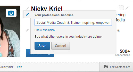How to edit your LinkedIn Profile headline