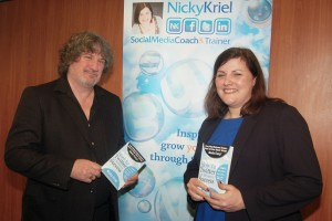 Nicky Kriel with publisher Mike Cameron - The Other Publishing Company
