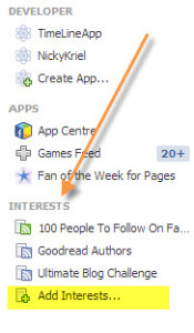 Create interest lists from you Facebook Profile