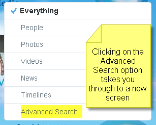 Twitter Search Advanced Search