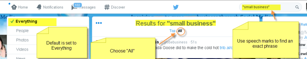 Twitter search Everything