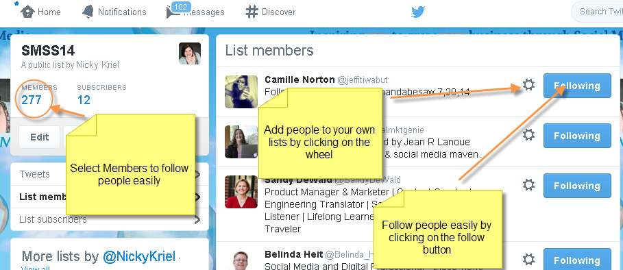 Twitter search finding people on lists