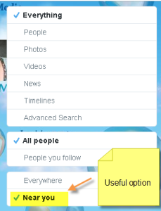 Twitter search near you