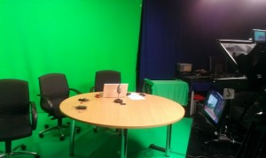 A behind the scenes view of the Business Connections Live studio. This was taken previously.