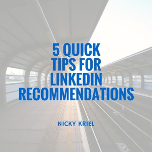 5 quick tips for linkedin recommendations