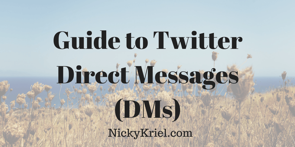 Guide to Twitter Direct Messages (DMs)