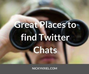 Great Places to find Twitter Chats by Nicky Kriel