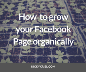 How to grow your Facebook Page organically by Nicky Kriel