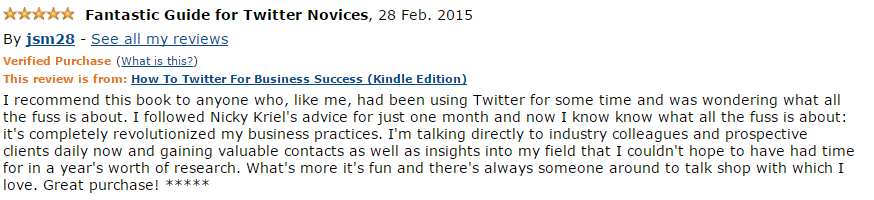 How to Twitter book review