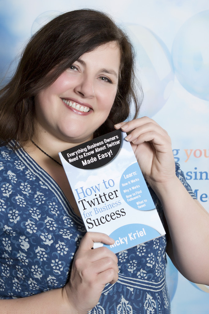 Nicky Kriel with How to Twitter for Business Success book. Photograph courtesy of Image by Red